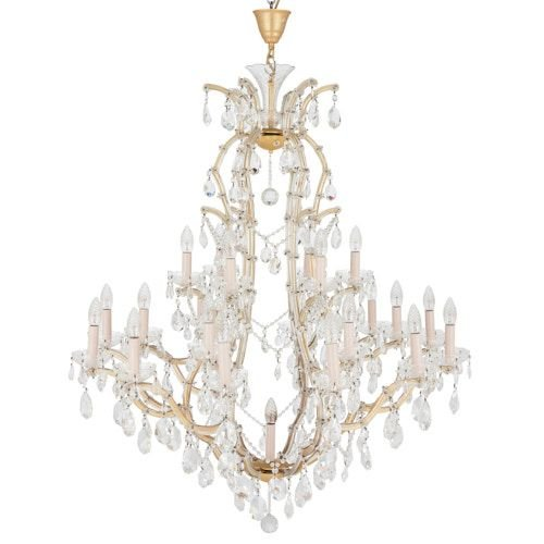 Bohemian cut glass 25-light chandelier