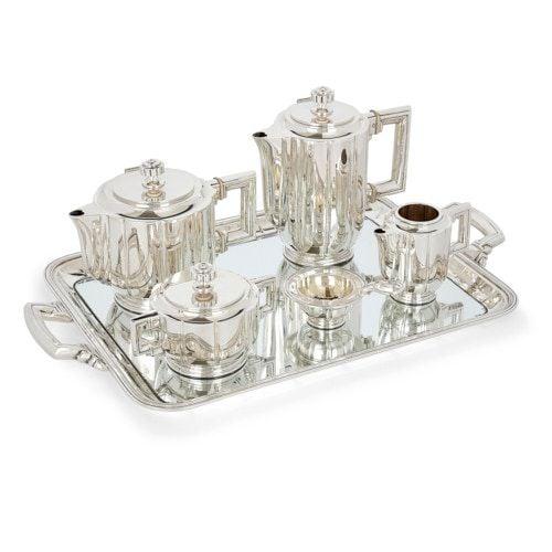 Spanish Art Deco silver tea and coffee service by Josep Buxeda