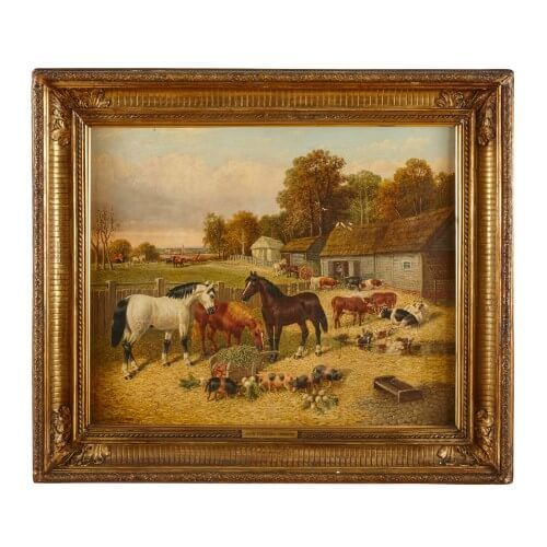 'Farmyard Animals', oil painting by John Frederick Herring