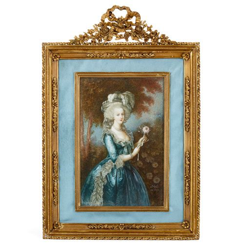 Portrait miniature of Marie Antoinette after Le Brun
