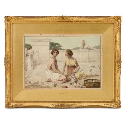 English Neoclassical watercolour painting by Henry Ryland