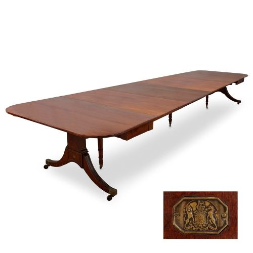 Regency period mahogany extending dining-table by Edwards