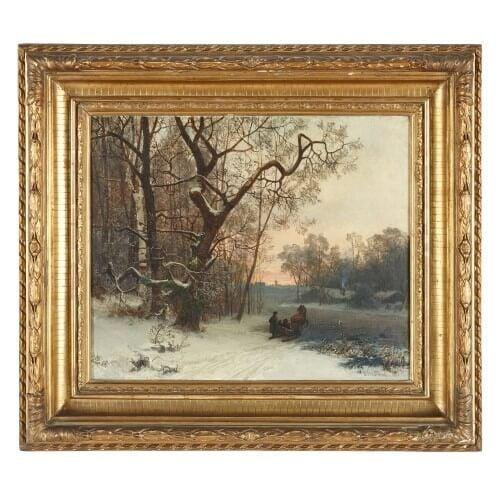 'Winter Landscape', oil painting by Oscar Törnå