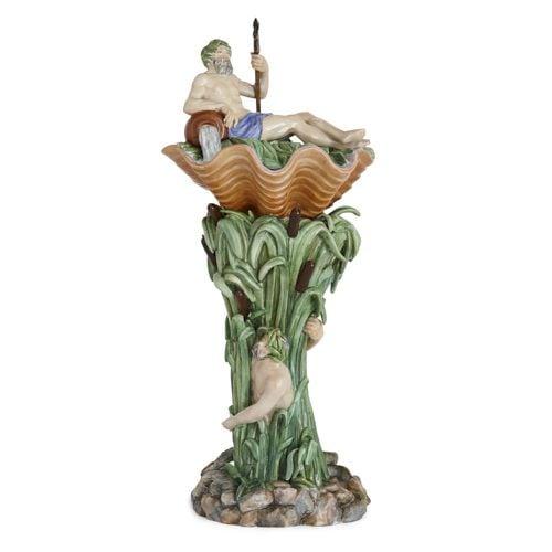 Large Royal Copenhagen porcelain sculptural centrepiece