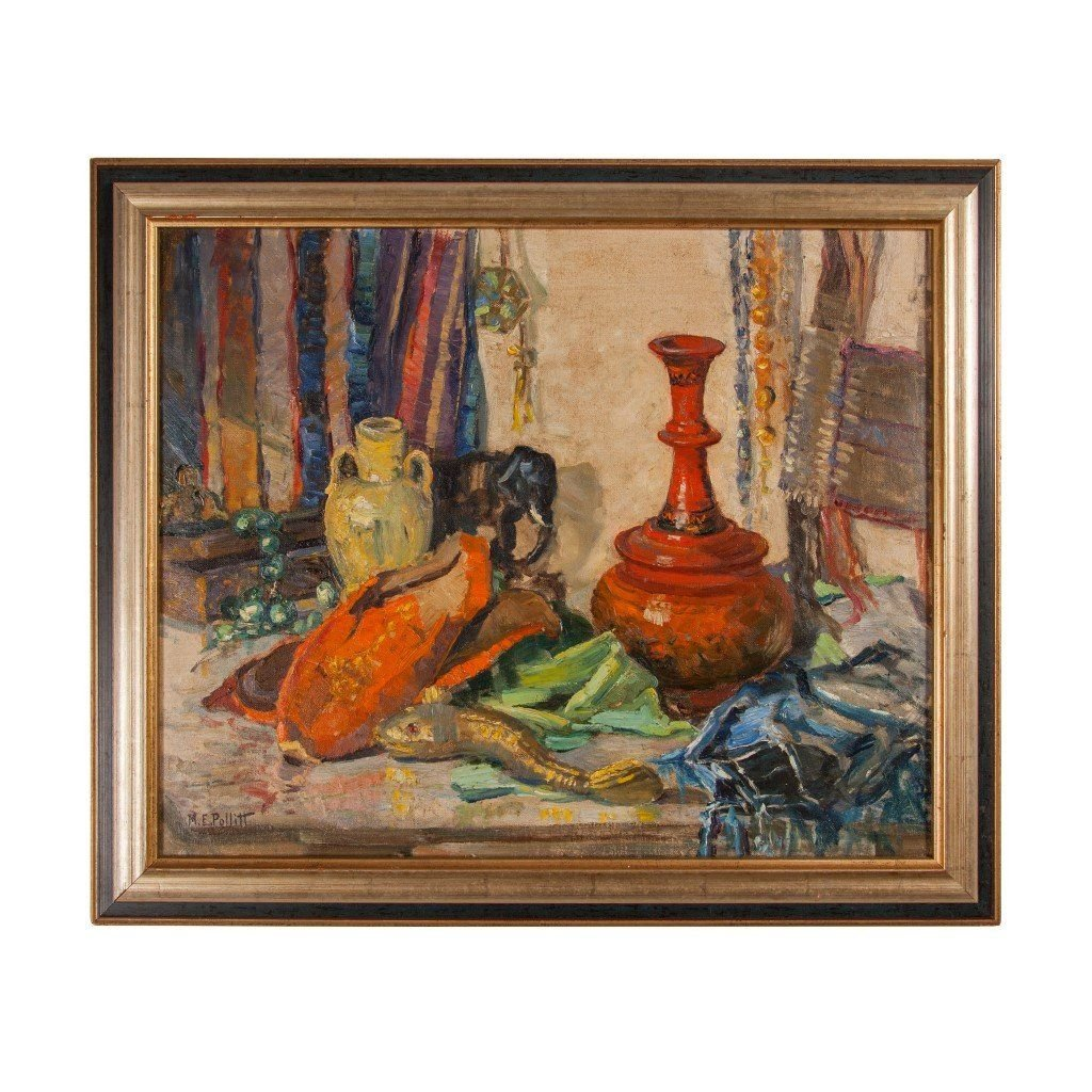 A Collection Of Oriental Objects Oil Painting By M
