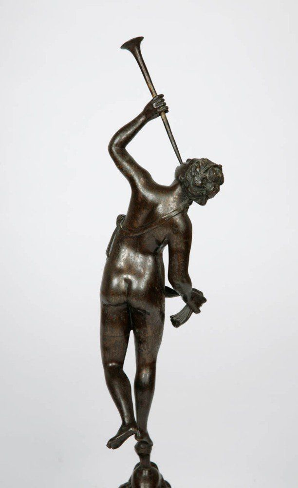 Pair Of Bronze Figures Of Mercury And Fortuna After