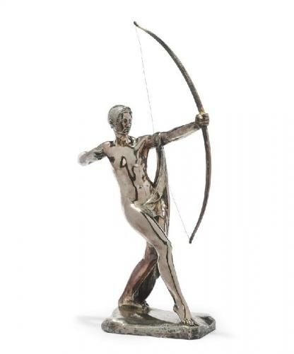 A silvered bronze model of Diana by Silvestre