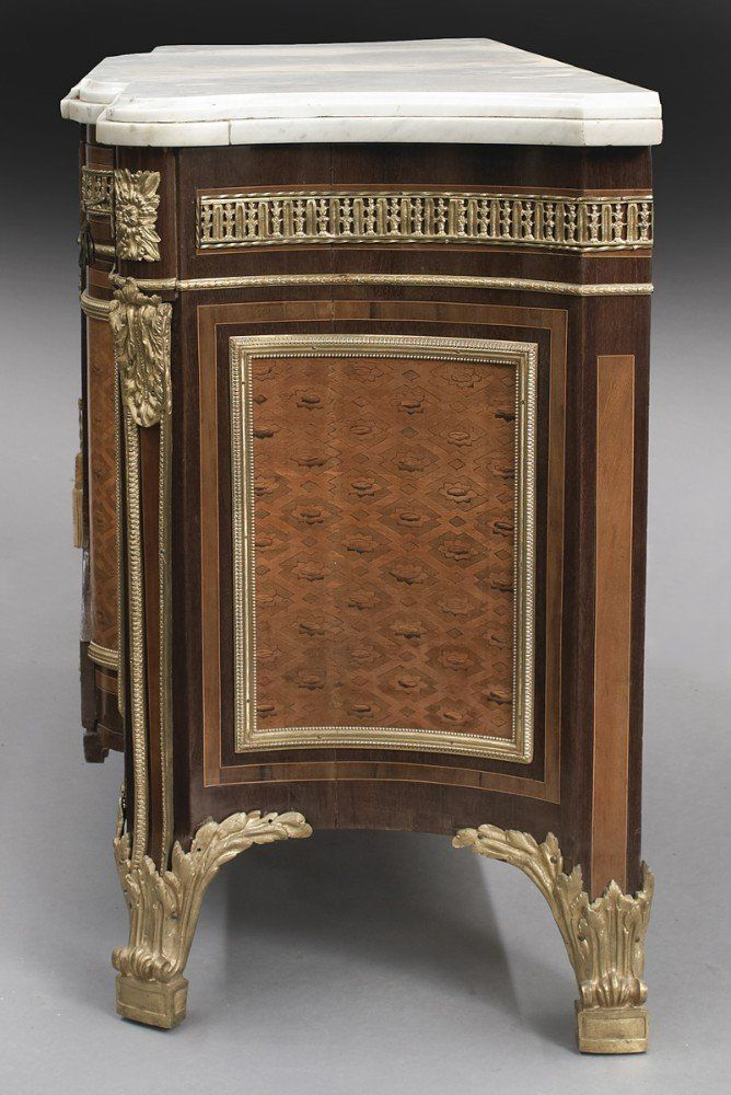 kitchen cabinets glass louis xvi style ormolu mounted marquetry antique commode 20441