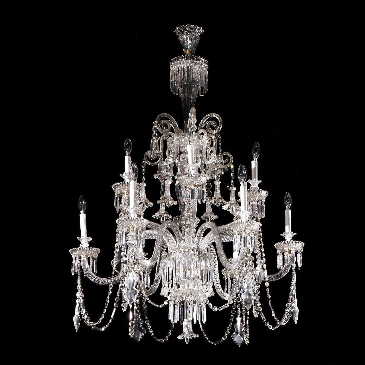 French Antique Crystal Gl Chandelier