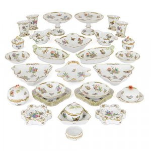 Hungarian Victoria Dinner Service By Herend Porcelain