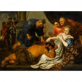 Oil painting of Samson and Delilah after Anthony van Dyck