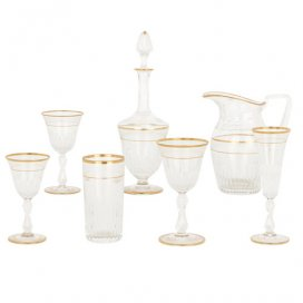 Antique Saint-Louis crystal fifty-eight piece drinking set