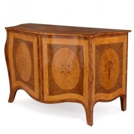 Antique 18th Century marquetry commode attributed to Langlois