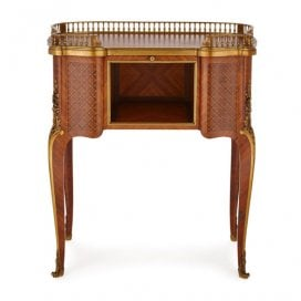 Louis XV style ormolu mounted parquetry cabinet by Sormani