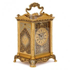 19th Century French ormolu and enamel carriage clock