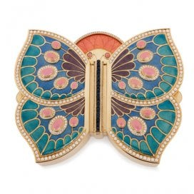 Gold, enamel, pearl, diamond and sapphire butterfly box by Asprey