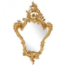 Antique Italian giltwood mirror in the Rococo style