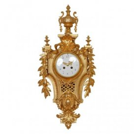 Belle Époque French antique ormolu cartel clock