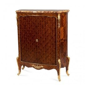 Ormolu mounted kingwood antique side cabinet by P. Sormani
