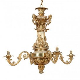Régence style antique ormolu four light chandelier