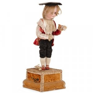 Antique musical automaton bisque doll