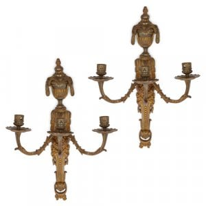 Pair of ormolu wall lights in the Louis XVI style