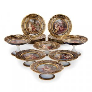 Royal Vienna porcelain antique dessert service
