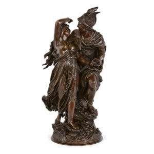 Patinated bronze of Perseus freeing Andromeda by Grégoire