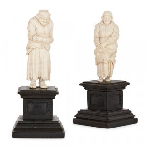 Antique Ivory Bone Carvings For Sale Mayfair Gallery