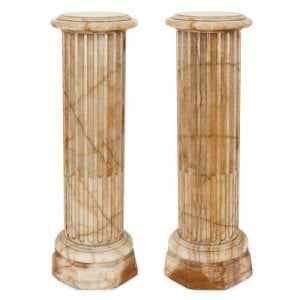 Pair of French Neoclassical style alabaster columns