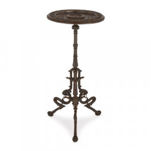 Viennese Rococo style cast iron circular side table