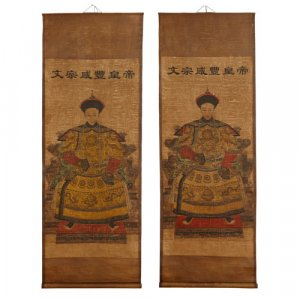Two large Xianfeng style Chinese scrolls