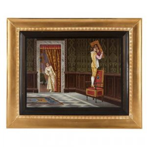 Ormolu framed Italian antique micromosaic plaque
