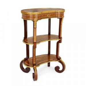 Ormolu and marquetry Louis XV style dressing table by Sormani