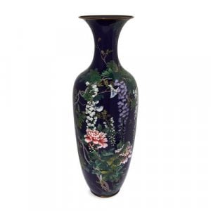 Large cloisonné enamel antique Japanese vase, Meiji period
