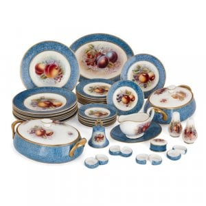 Dursley porcelain dinner service painted by James Skerrett