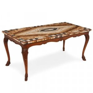 18th Century Italian onyx and porphyry coffee table