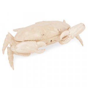 Antique ivory crab-form box
