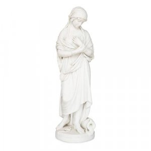 'Rebecca at the Well', large marble sculpture by Romanelli