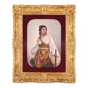 'Judith', large antique KPM porcelain plaque after Riedel