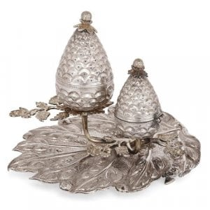 19th Century Turkish Judaica silver Besamim spice box