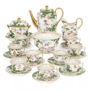 19th Century French Sevres style porcelain tea service