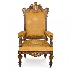 Large throne chair with Boulle marquetry