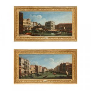 Pair of 18th Century paintings of Venice, school of Canaletto