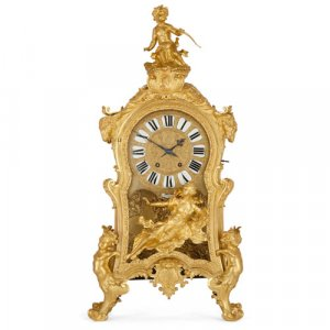 Monumental ormolu mantel clock by Beurdeley
