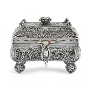 Russian 19th Century Judaica silver spice box