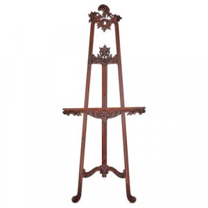 English Victorian period wooden artist's tripod easel