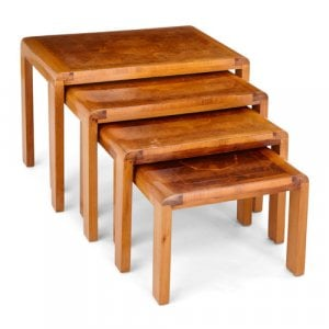 Set of four Art Deco nesting tables