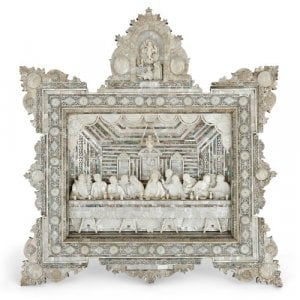 Large mother of pearl icon of the Last Supper