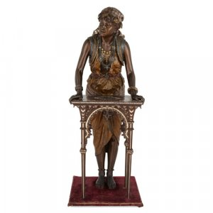 Large Orientalist spelter sculpture by Louis Hottot